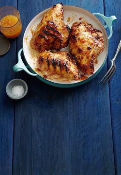 Apricot Glazed Grilled Chicken