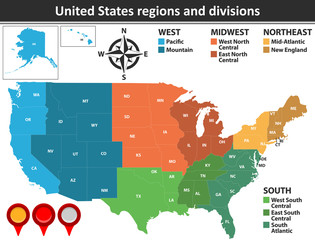 United States Regions and Divisions