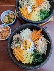 Korean food bibimbap