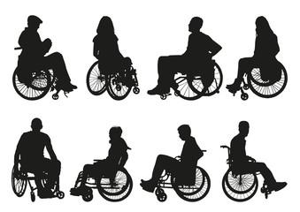 man on a wheelchair set