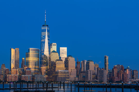 View to Manhattan Skyline from New Jersey, USA