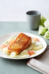 Salmon with Citrus and Fennel Salad