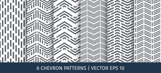 Set of chevron patterns. Vector