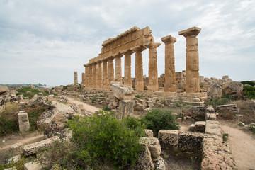 Gelände der Akropolis in Selinunt Sizilien