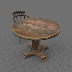Old table and chair