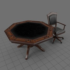 Game table and chair