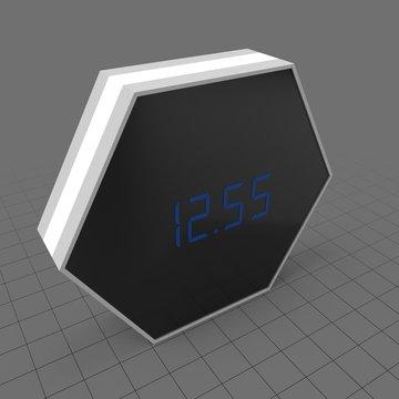 Hexagonal digital alarm clock