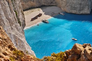 Schiffswrack-Bucht Navagio auf Zakynthos, Griechenland