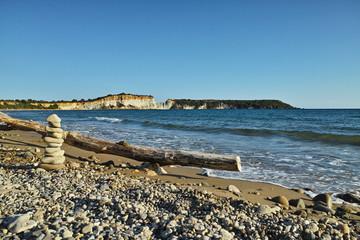 Gerakas Bucht und Strand auf Zakynthos, Griechanland, wo Touristen und Schildkröten die Koexistenz üben