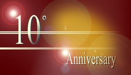 Biglietto 10° anniversario. Progetto grafico.