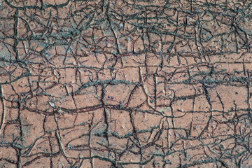 fantastic grunge background for design wood covered with patterns of cracks and paint