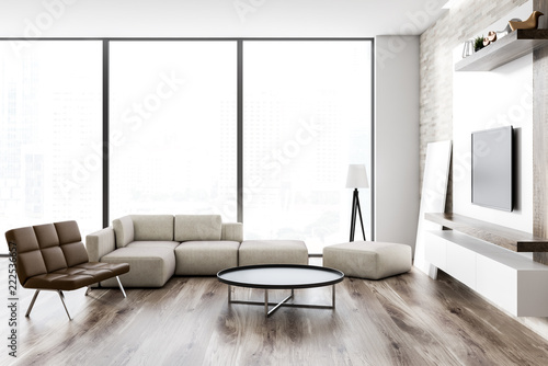 Loft Modern Living Room Interior Tv Set Stockfotos Und Lizenzfreie Best Living Room Design With Tv Set