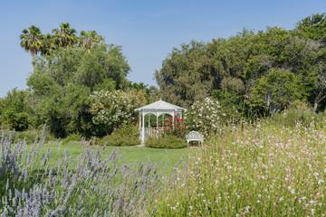 Kisok and flower blossom South Coast Botanic Garden