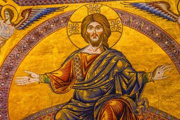Jesus Christ Mosaic Dome Bapistry Saint John Florence Italy