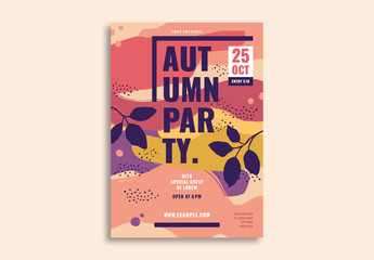 Autumn Party Flyer Layout