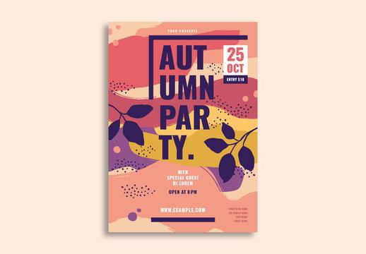 Autumn Party Flyer Layout