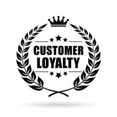 Customer loyalty vector icon