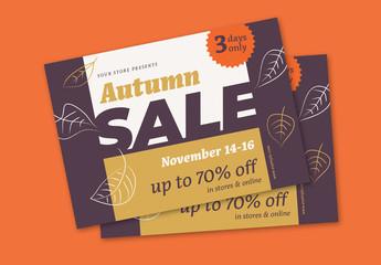 Autumn Sale Flyer Layout