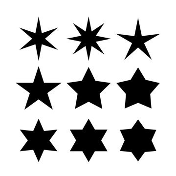 Vector star shapes collection