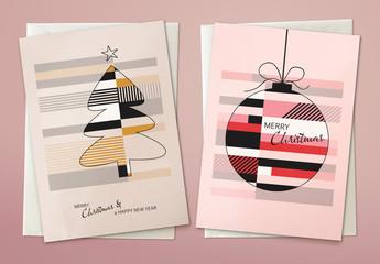 Christmas Card Layout Set