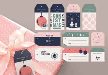 Christmas Gift Tag Layout Set