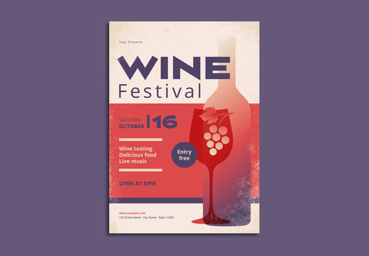 Wine Festival Poster Layout