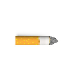 Cigarette butt vector illustration. Nicotine addiction. With drop shadows for any background. Stop smoking concept