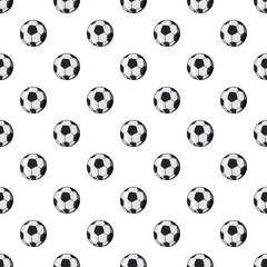 Soccer ball pattern. Cartoon illustration of soccer ball vector pattern for web
