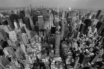 New York City skyline Black and White photo