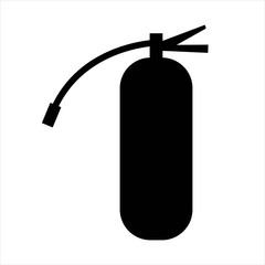 fire extinguisher icon. black isolated object