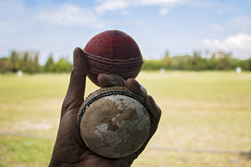 Two cricket balls
