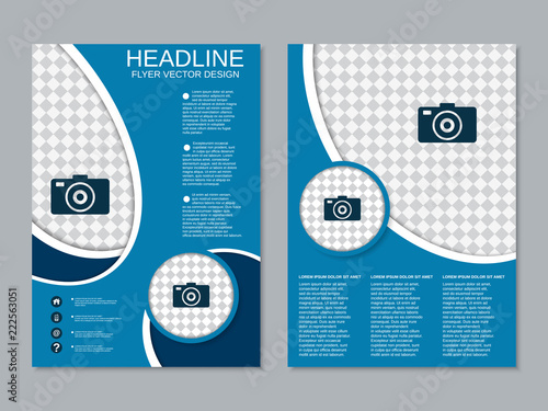 modern professional business two sided flyer vector design template