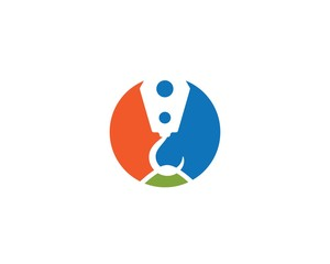 Crane hook logo vector