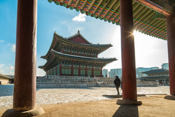 Gyeongbokgung landmark in Seoul, South Korea