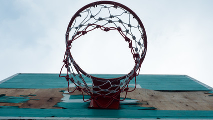 old Green basketball hoop