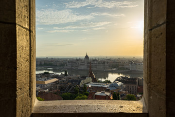 Wall Mural - Hungarian Parliament Building with view of Danube River in Hungary