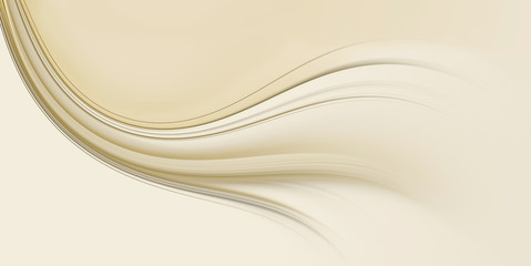 Background for design with beige wave