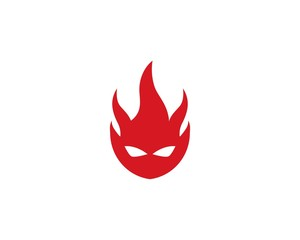 Fire Devil Logo Template