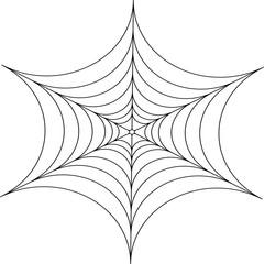 Decorative spider web