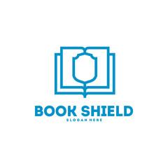 Book Shield logo designs vector, Education logo symbol