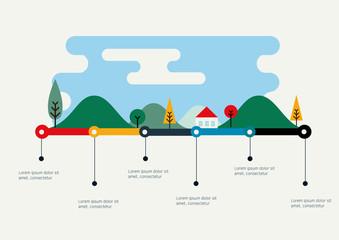City vector infographic