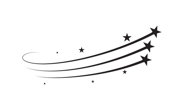Star trail vector comet trace of black lines