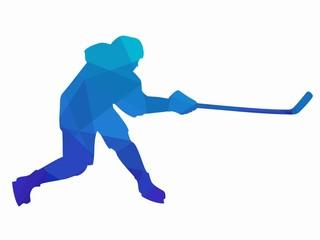 illustration ice hockey player, vector draw