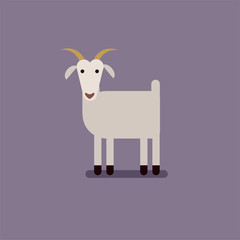 Goat flat icon for your design.
