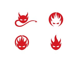 Devil logo vector