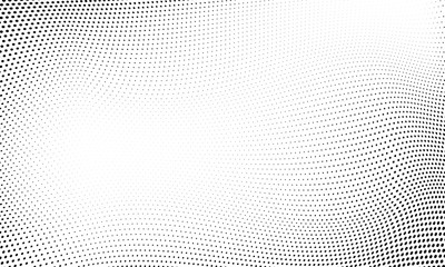 Obraz Dot halftone wave pattern abstract background - fototapety do salonu