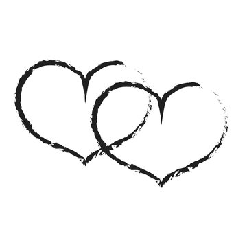 Sign black double heart 3.01