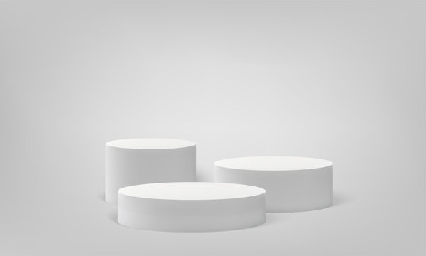 Podium scene pillar stand vector scene pedestal