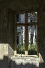 The destroyed building after War in Srebreno Croatia