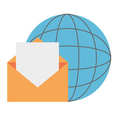 envelope mail with planet